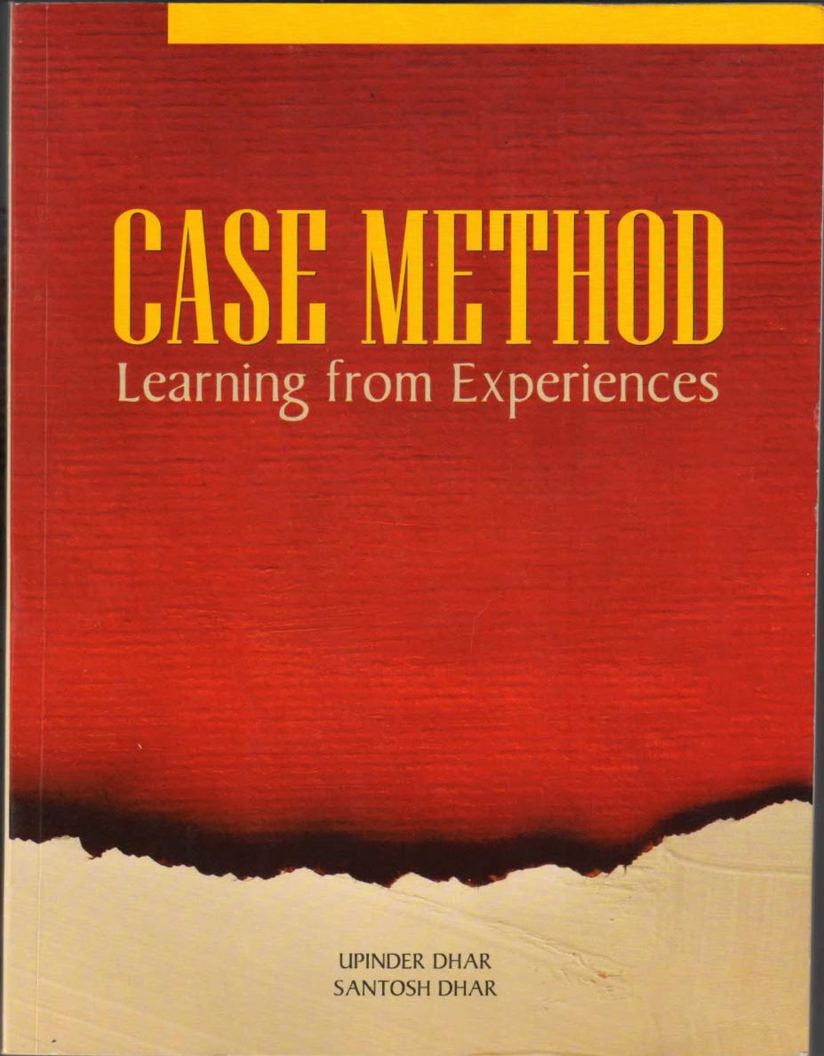 Case Method : Learning from Experiences