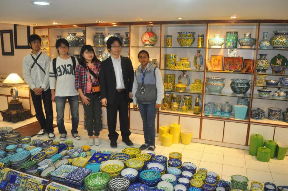 Delegates from Japan visit Neerja International to see Blue Pottery & Indian Traditional Art