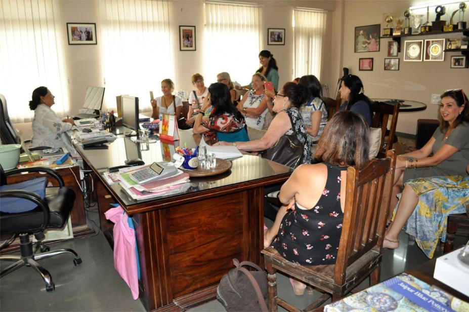 Haya Elfasi Group from Israel visits Neerja Blue Pottery Showroom and Workshop