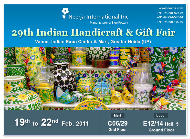 Invitation For Handicraft Gift Fair 19th To 22nd Feb 2011 Epch