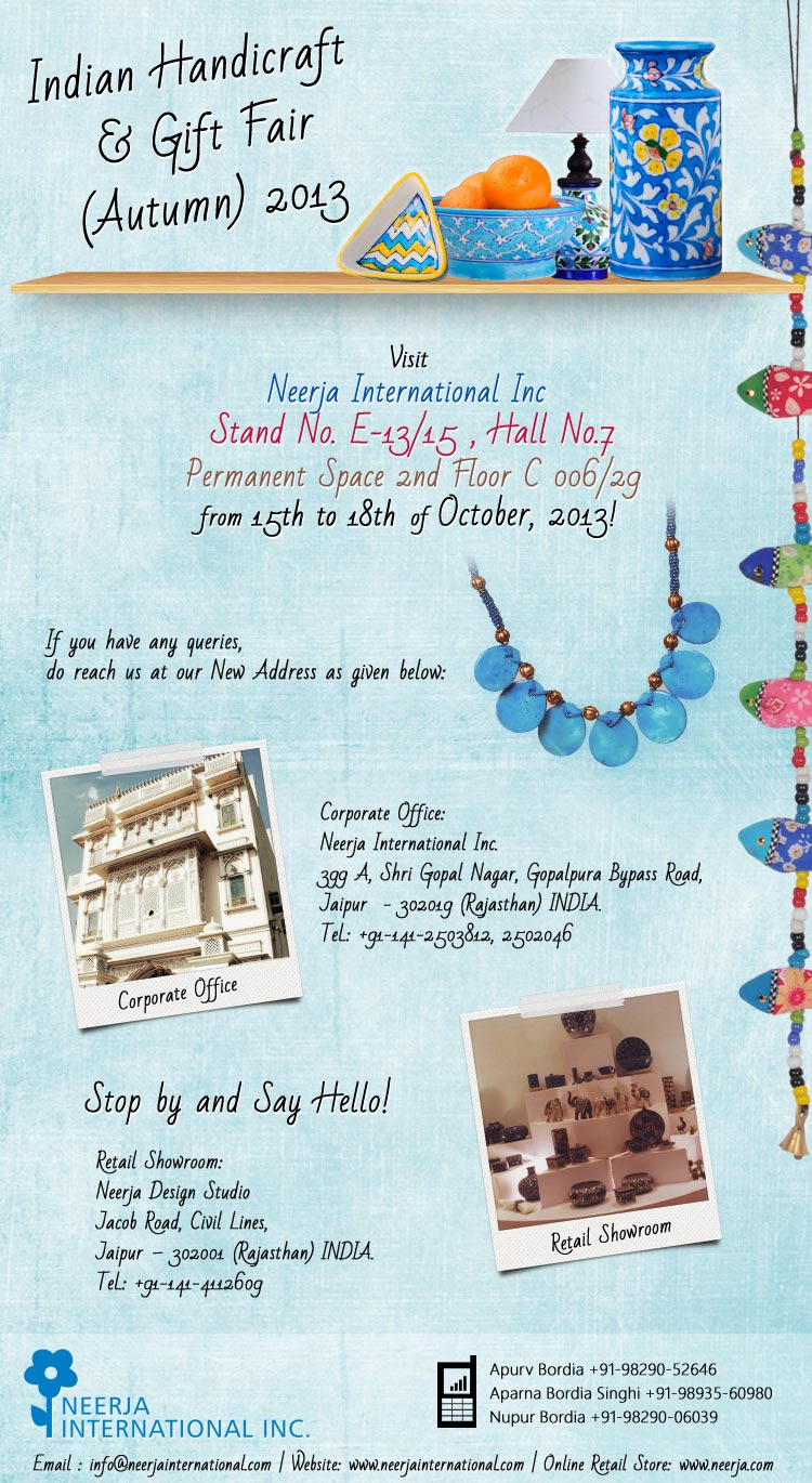 Neerja IHGF Autumn Fair 2013 - 15th to 18th Oct