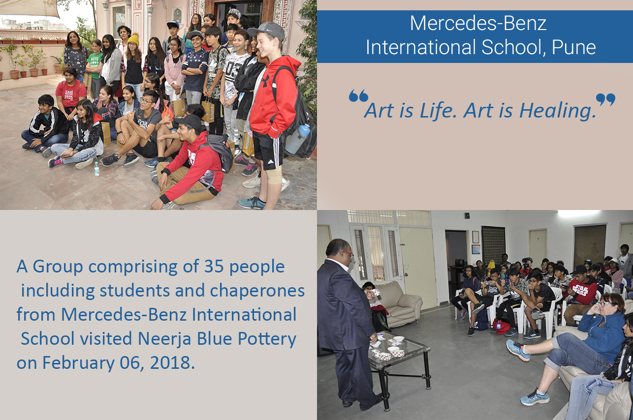 Student group visit from Mercedes-Benz International School, Pune