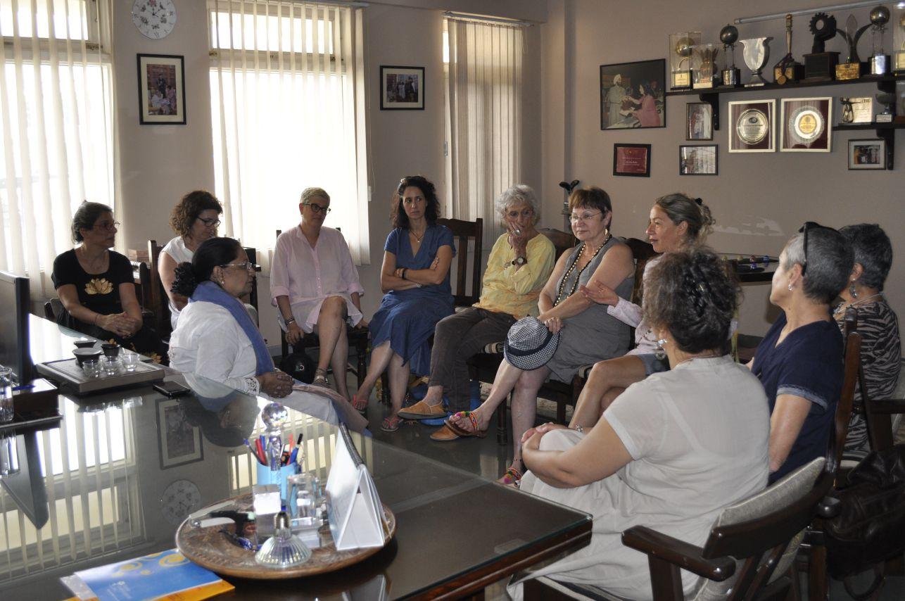 Group meeting with ma'am leela bordia