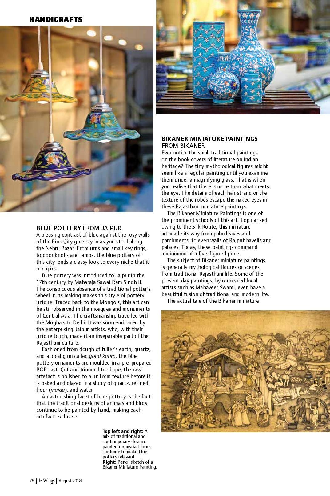 Neerja Blue Pottery featured in Jetwings