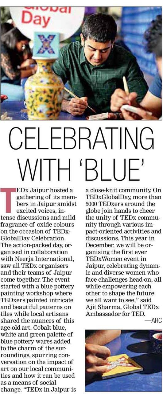 Neerja and TEDx event coverage in DNA