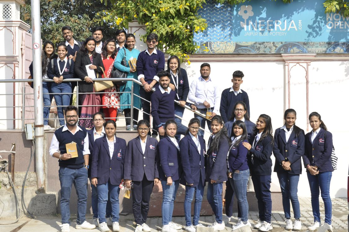Dezyne E'cole College visit to Neerja Blue Pottery Workshop