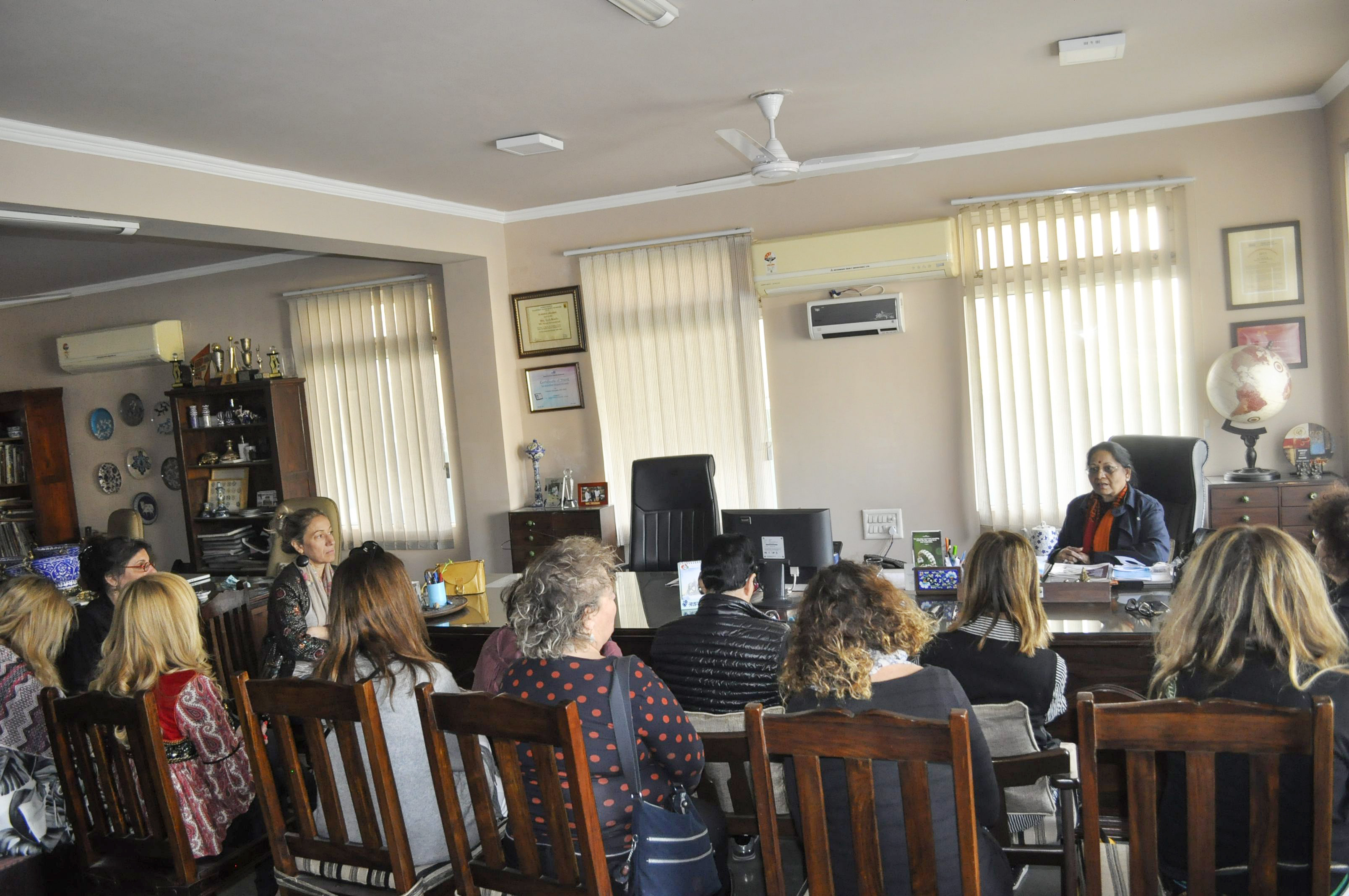 The ladies had an interactive session with Ma'am Leela Bordia