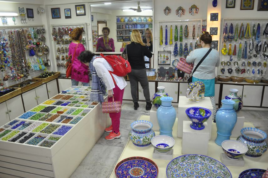 Neerja Jaipur Blue Pottery showroom