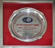 Life Time Achievement Award for Service to the Handicrafts Sector by E.P.C.H.