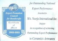 Outstanding National Exports Promotion