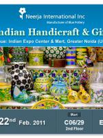 Invitation for Handicraft & Gift Fair 19th to 22nd Feb 2011 EPCH Delhi, Neerja International Inc - Jaipur Blue Pottery