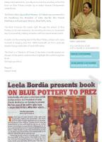 Jaipur Blue Pottery A Tribute - Leela Bordia - Coffee Table Book ( Neerja International inc )