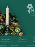 Neerja International Inc - Jaipur Blue Pottery - EPCH Trade Show 2013 - 8th to 11th Feb