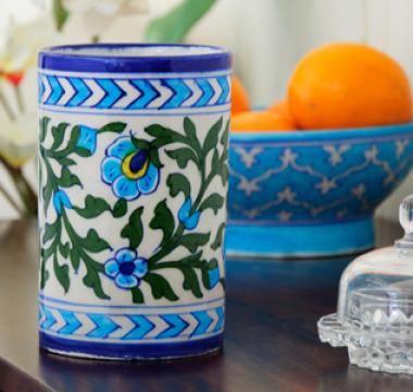 Neerja Blue Pottery Cylinders