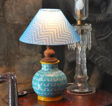 Blue Pottery Lamps