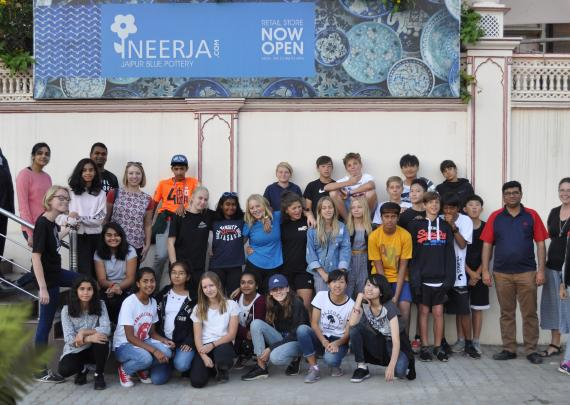 Stonehill International School Visit to Neerja Blue Pottery Workshop