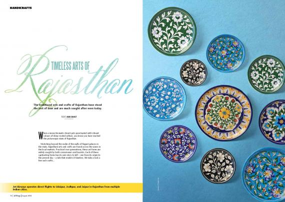 Neerja Blue Pottery featured in Jetwings