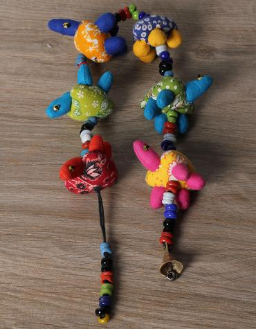 HANDMADE 6 TURTLE STRING - COTTON CLOTH - MULTI COLOR