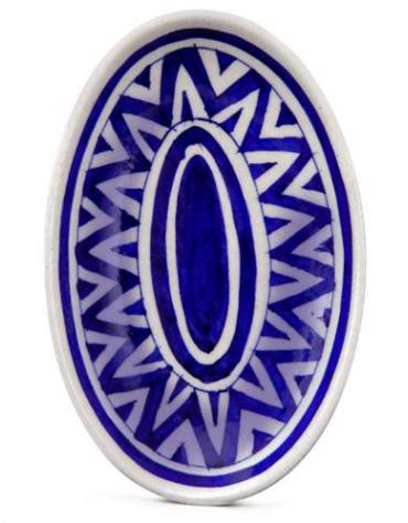 Blue and White Color Oval Plate 8 inches