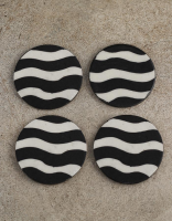 Neerja Black and White design coasters